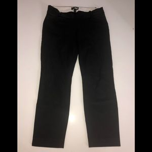 J Crew black crop maternity minnie Petite 0p pants